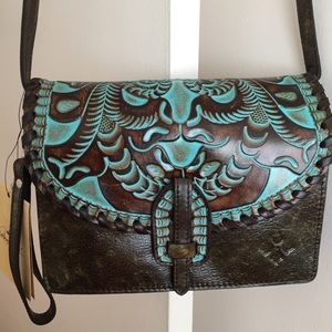 Patricia Nash Tooled Turquoise Style Lanza X-body